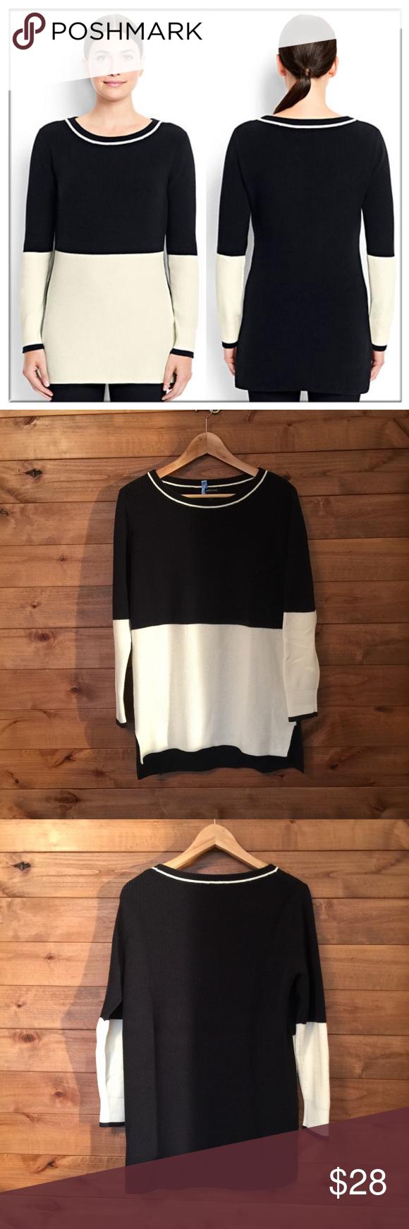 Lands End Colorblock Tunic Sweater Clothes Design Fashion Design Fashion [ 1740 x 580 Pixel ]