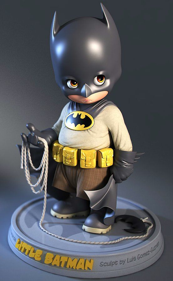 Little Batman Melts Hearts As A 3D Sculpt