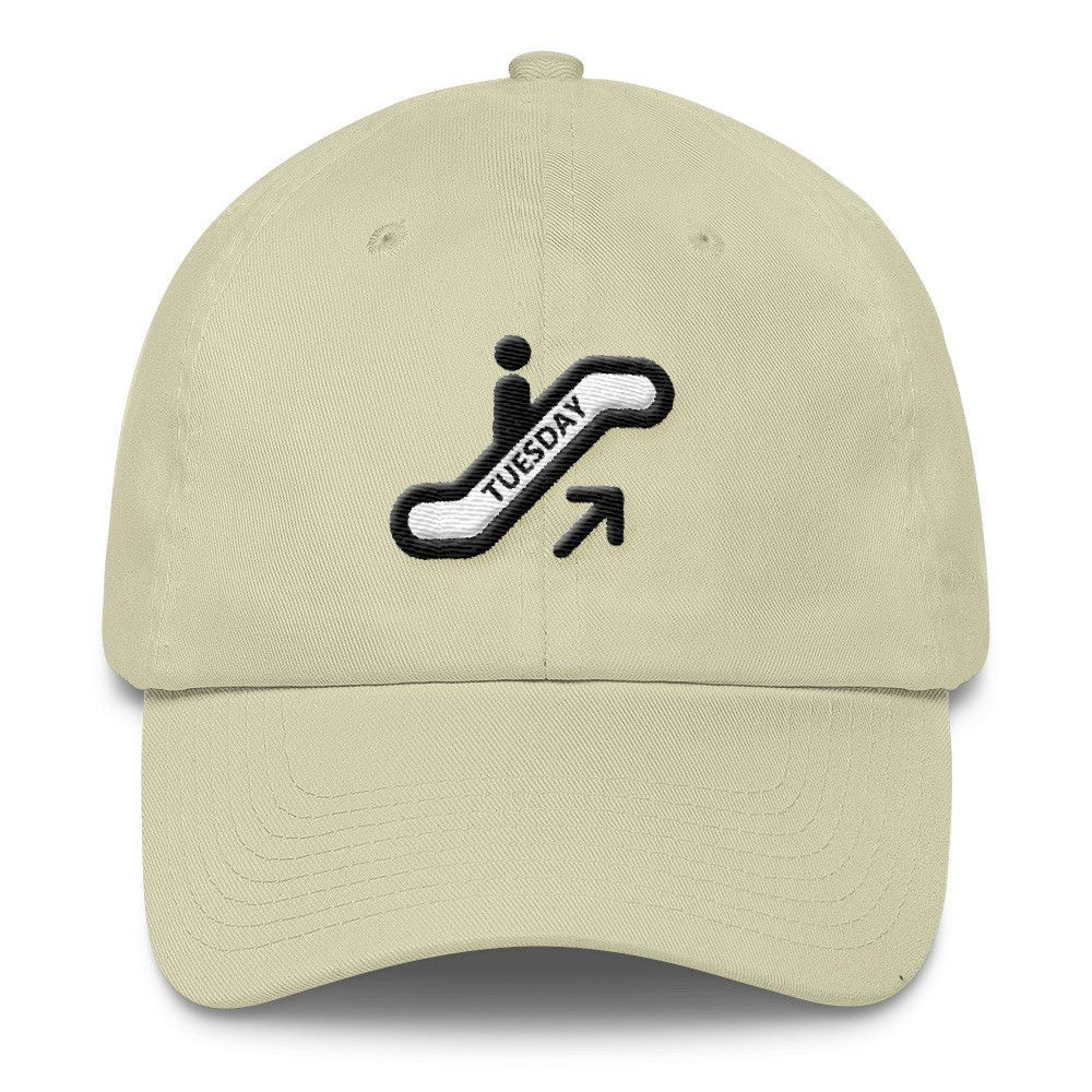 Going up on a Tuesday Cap - 3D embroidery