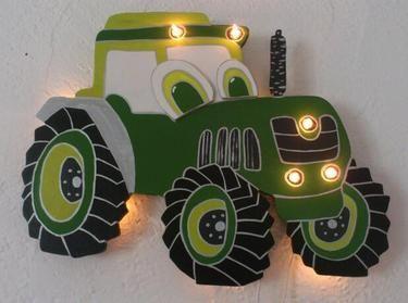 Coole Traktor Schlummerlampe Trecker Wandlampe Stofftiere Lampe Selber Basteln Kinder Holz