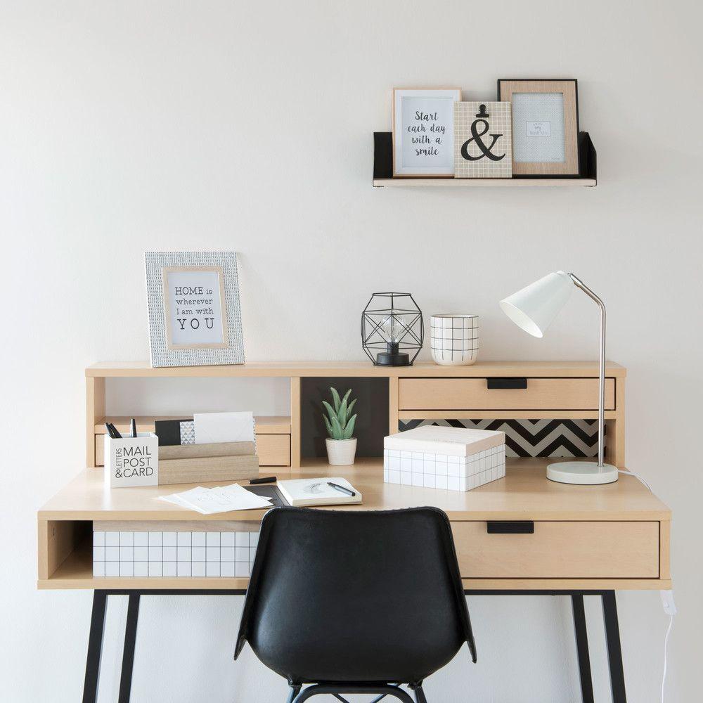 3-Schubladen-Schreibtisch en 2020 | Idée déco chambre ado ...