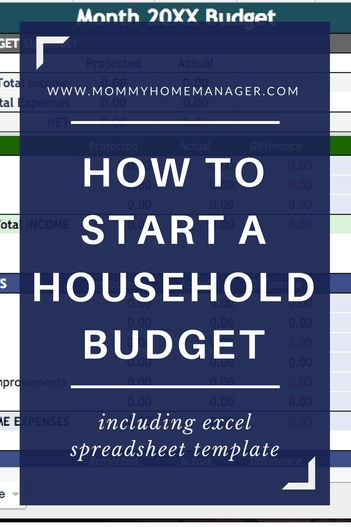 How to Start a Household Budget Finance Pinterest Budgeting
