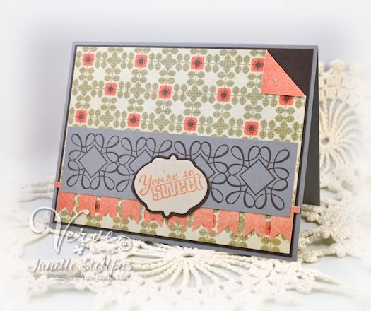 Card by Janelle Stollfus using Verve Stamps.