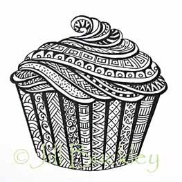 Cupcake Dessin De Cupcake Dessin Cupcake Et Mandala Dessin