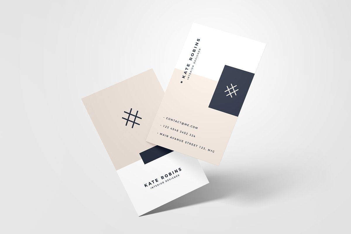 Business Card Mockup Business Card Mock Up Printing Business Cards Modern Business Cards
