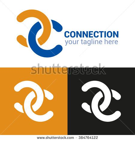 Connection Logo Template Connection Icon Connection Minimalistic