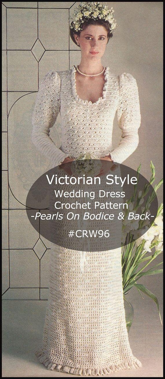 Victorian Wedding Dress Crochet Pattern Wedding Dress Victorian ...