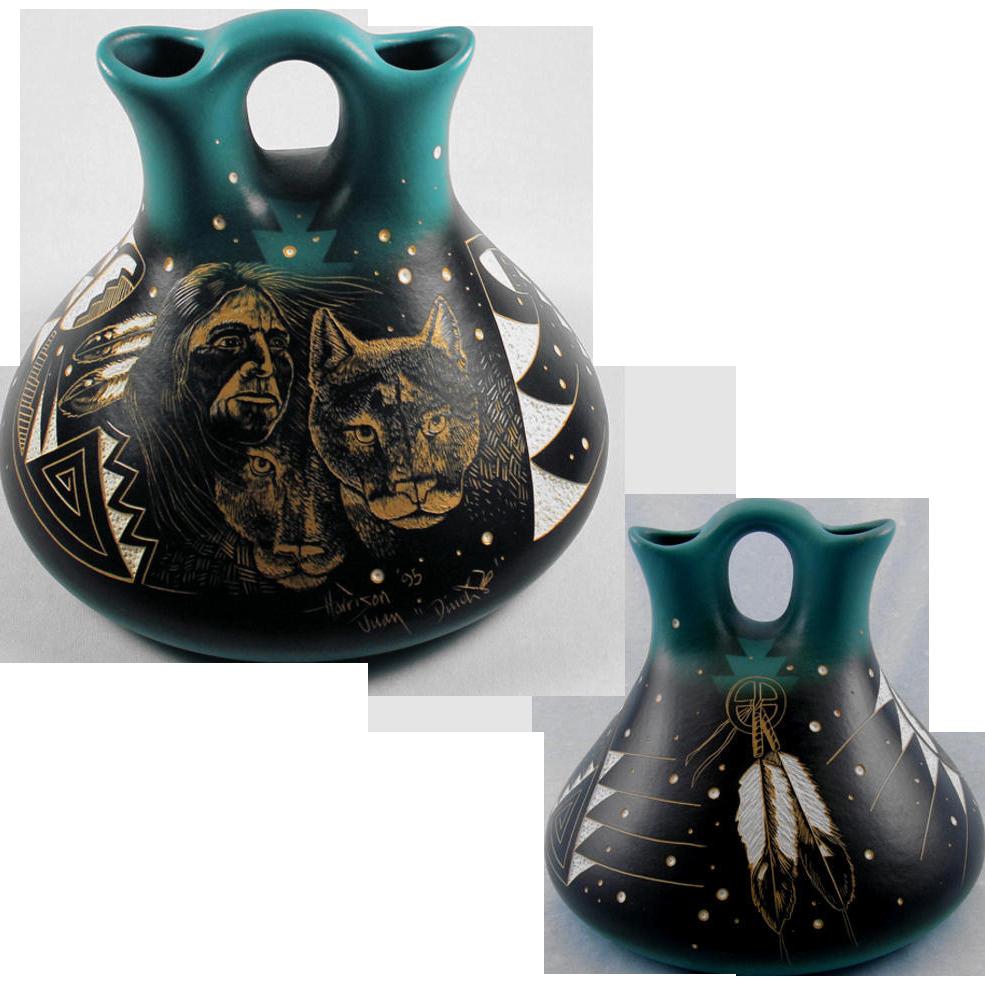 Southwest Native American Pottery Pueblo Wedding Vase