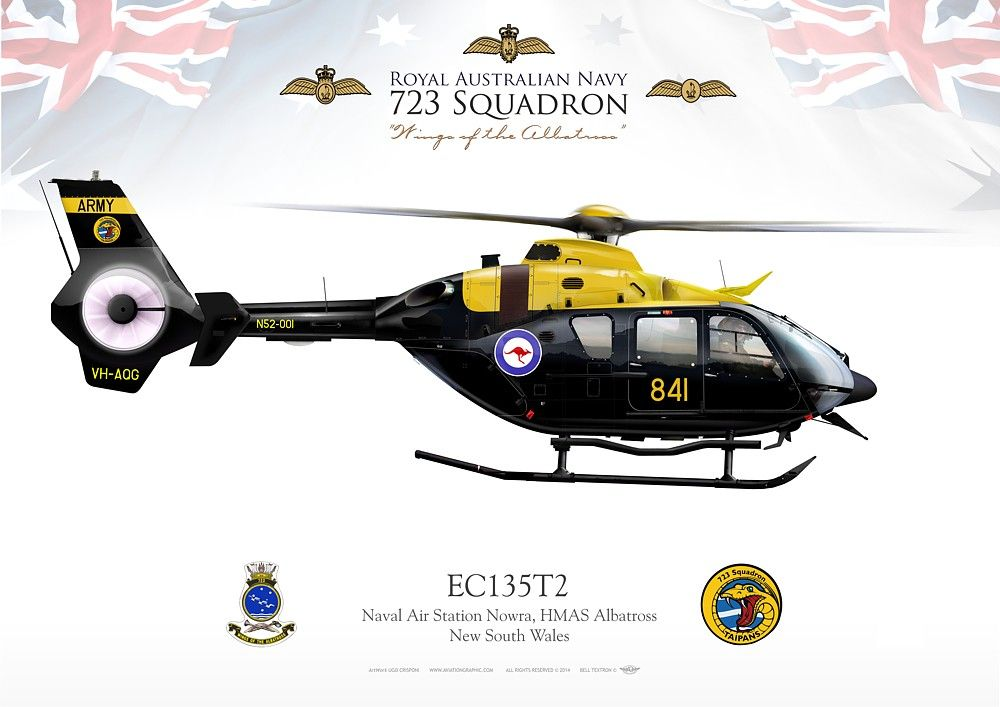 ROYAL AUSTRALIAN NAVY 723 Squadron. Naval Air Station Nowra, HMAS Albatross, New South Wales (Australia)Joint ARMY / NAVY training unit