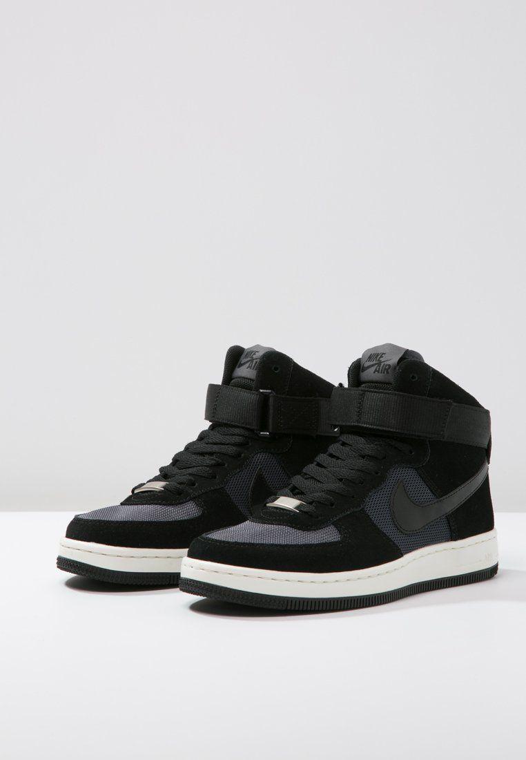 eb617a7ec24 Nike Sportswear AIR FORCE 1 ULTRA FORCE MID - Sneakers hoog - black/dark  grey - Zalando.nl