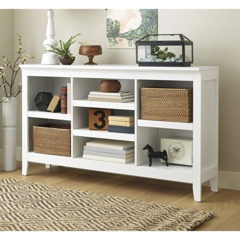 32 Carson Horizontal Bookcase With Adjustable Shelves White
