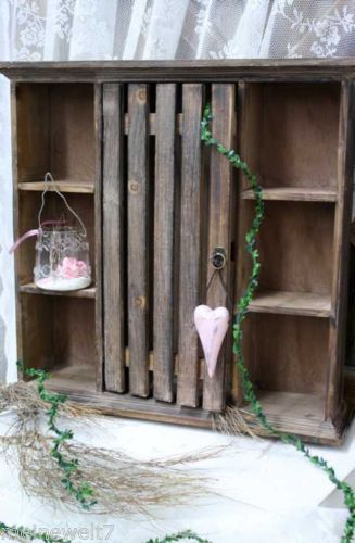 meine welt wandschrank regal h ngeschrank vitrine shabby antik holz braun 55 cm pinterest. Black Bedroom Furniture Sets. Home Design Ideas