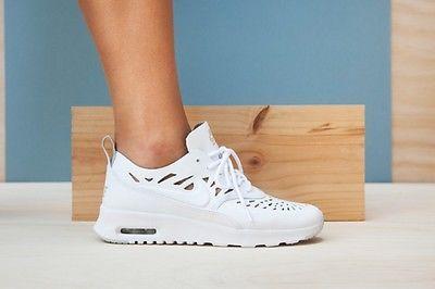 0ebbb018ee NIKE Women Air Max Thea Joli White/Grey Mist Summer 725118-100 US Sockless  Run