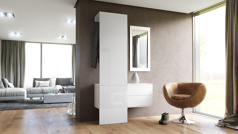 Fabelhaft Wandgarderobe Paneel Beste Wahl Garderobe Carlton Set 2, In Weiß Matt
