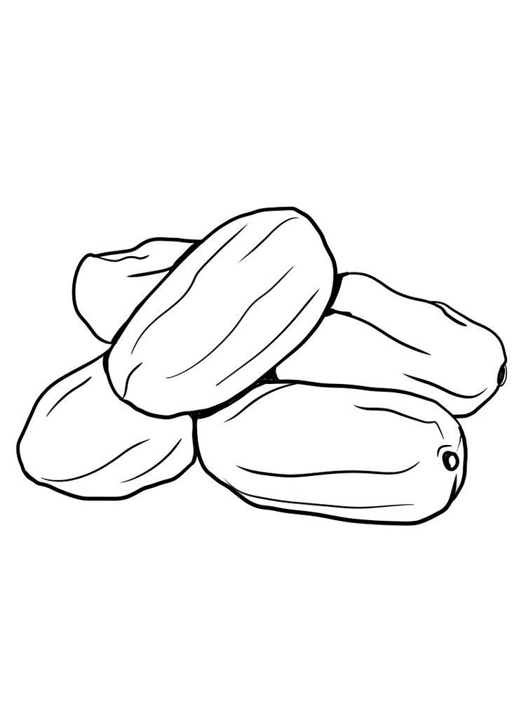 Date Fruit Coloring Pictures Free Fruit Coloring Pages Coloring Pictures Coloring Pages