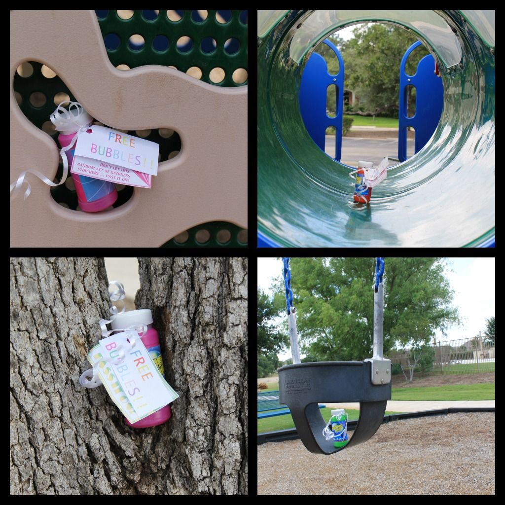 Make Them Wonder...love the idea of leaving bubbles around a playground to be found by lucky kiddos. :)