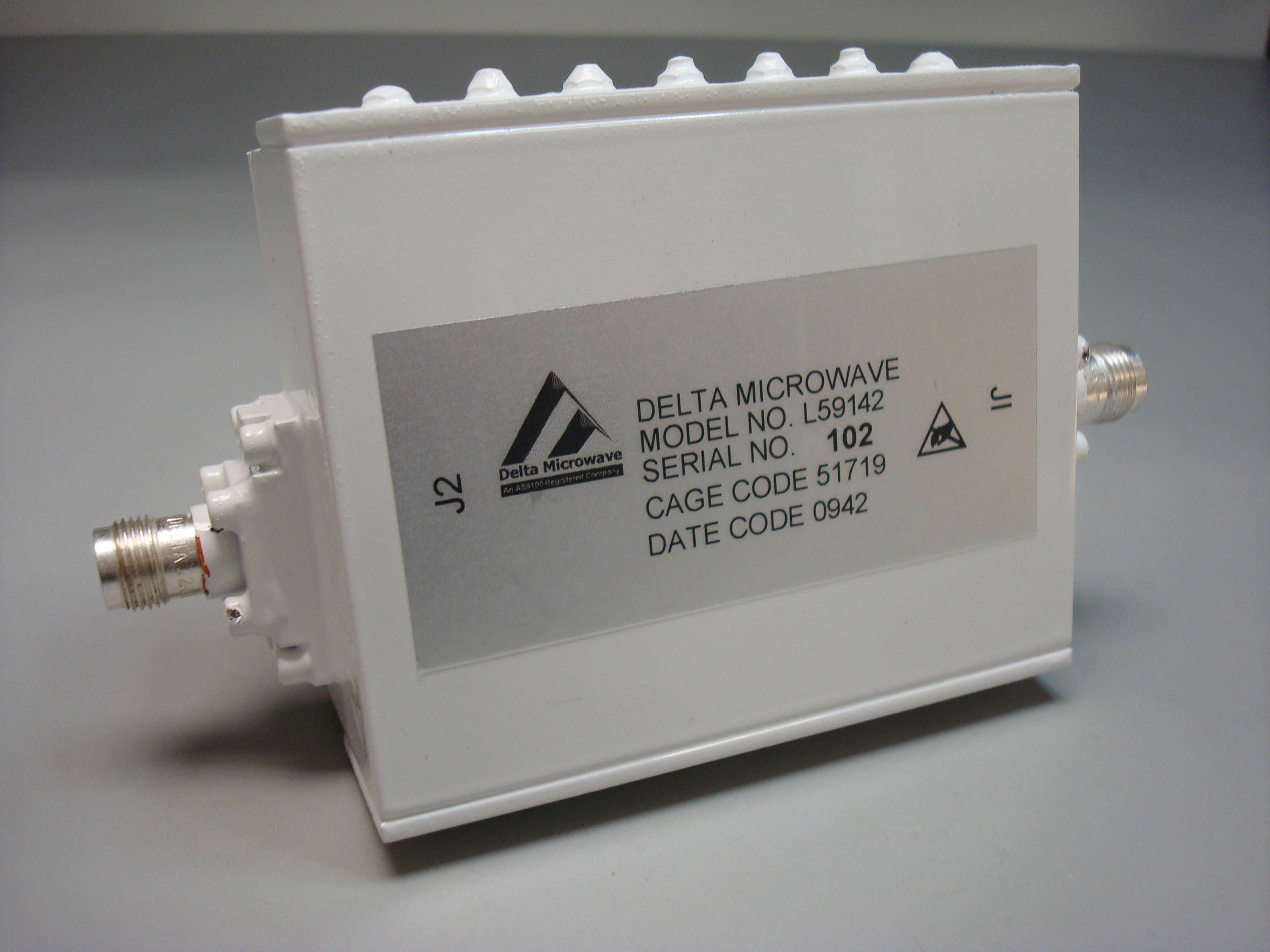 Delta Microwave Model Number L59142 Space Qualified Gps Filter Stereo Noise Limiter Circuit Amplifier This Assembly Incorporates Highly