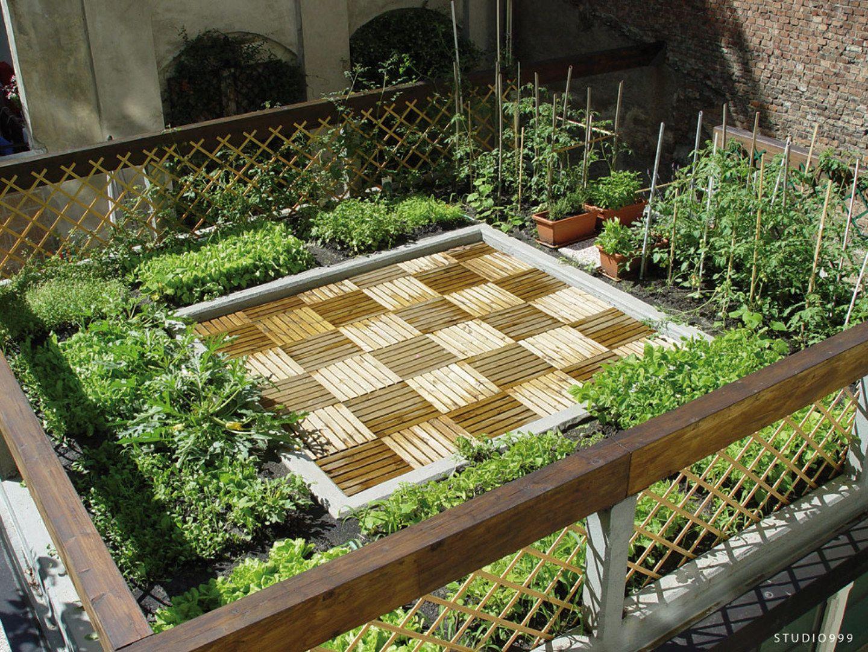 orto sul tetto Giardino sul tetto, Idee giardino esterno