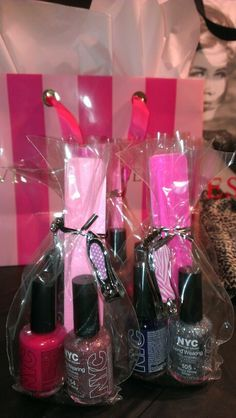 Birthday party favors for a teenage girls party boyz party