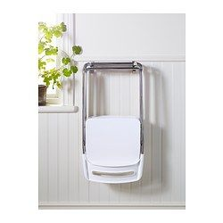 white chairs ikea nisse folding chair high. Simple White NISSE Folding Chair High Gloss White Chrome Plated  IKEA Throughout White Chairs Ikea Nisse Chair High I