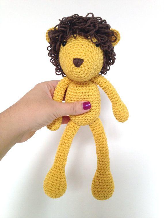 Lion+Plush+Lion+Stuffed+Animal+Lion+Plushie+Lion+by+MarigurumiShop,+€30.00