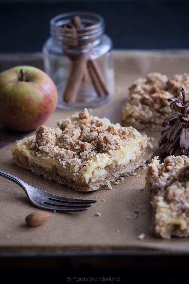 Gesund & vegan: Apfel-Pudding-Streuselkuchen • Maras Wunderland