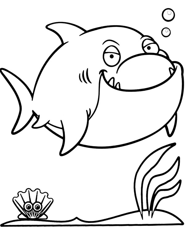 Shark And Mermaid Coloring Pages Designs Collections