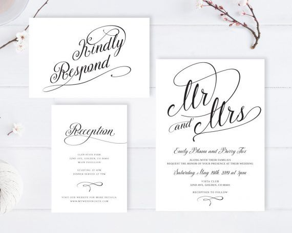 Cheap Wedding Invitations With Rsvp Under 2 Or Less Emmaline Bride Classic Wedding Invitations Fun Wedding Invitations Wedding Invitations