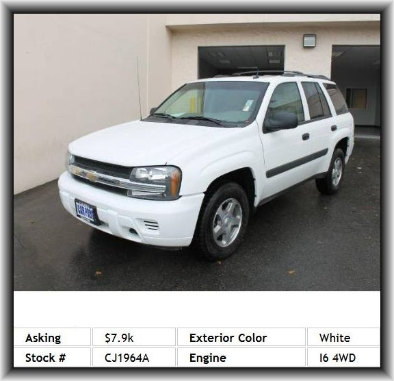 2005 Chevrolet Trailblazer Ls Suv Suspension Front Independent