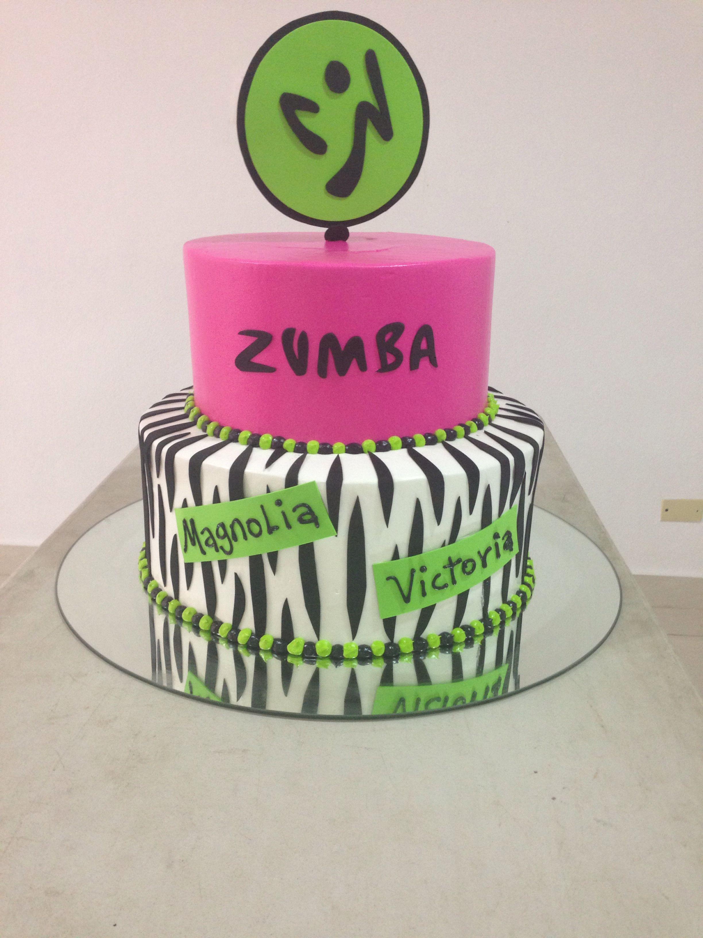 Zumba Cake Idea Zumba Party Ideas Pinterest Cake