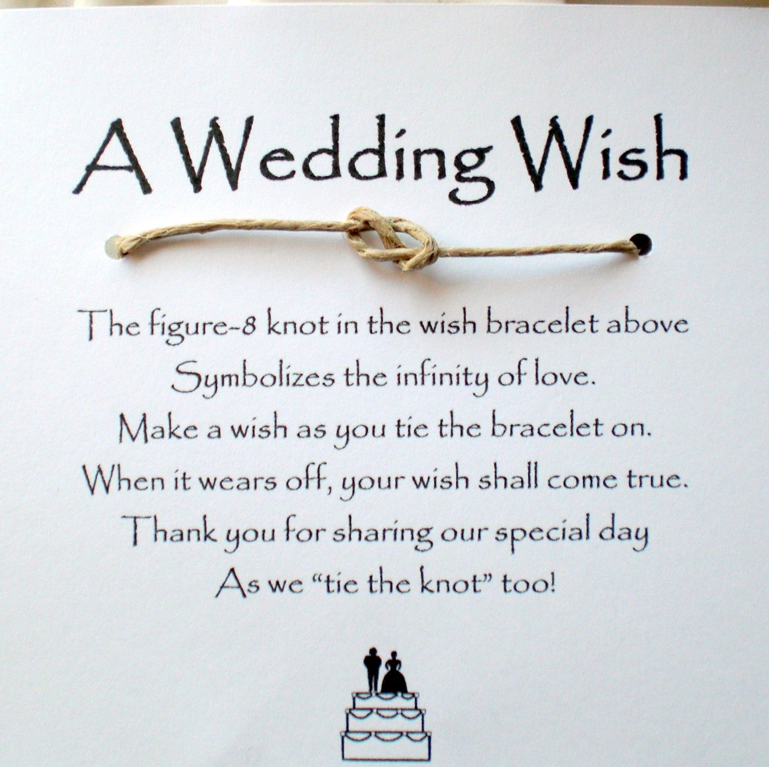 Wedding wish favors | Infinity, Favours and Wedding