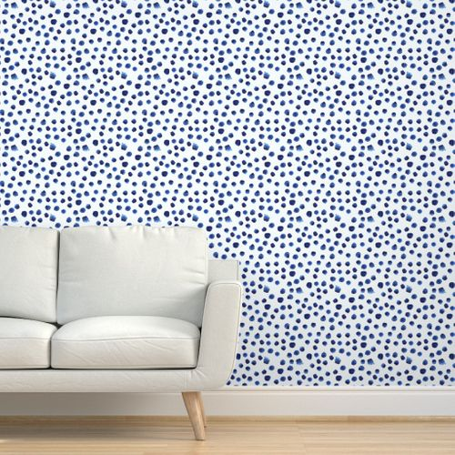 Navy And White Block Print With Linen Watercolor Wallpaper Blue Wallpapers Wallpaper