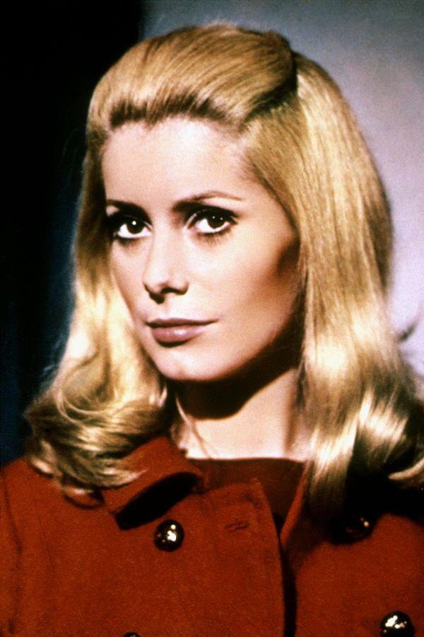 Catherine Deneuve in 1960's hairstyle, in Truffaut's