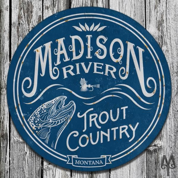 Metal Decorative Signs Beauteous Vintage Madison River Wall Sign  Keep  Pinterest  Rivers Design Ideas