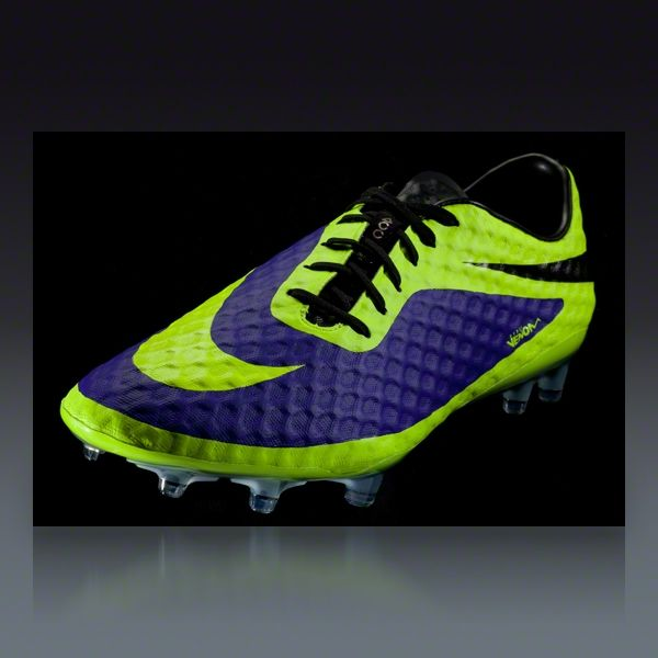 cae43c6ee Nike HyperVenom Phantom FG - Electro Purple/Volt/Black Firm Ground Soccer  Shoes $224.99 ~