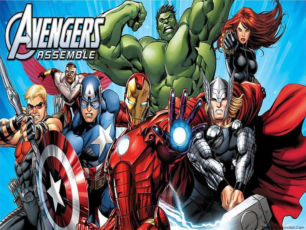 Avengers Assemble Cartoon Wallpaper Avengers
