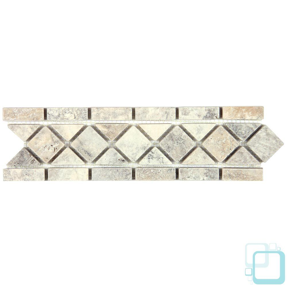 Silver Travertine Tumbled Silver Travertine 3 1 4 X 12 Classic