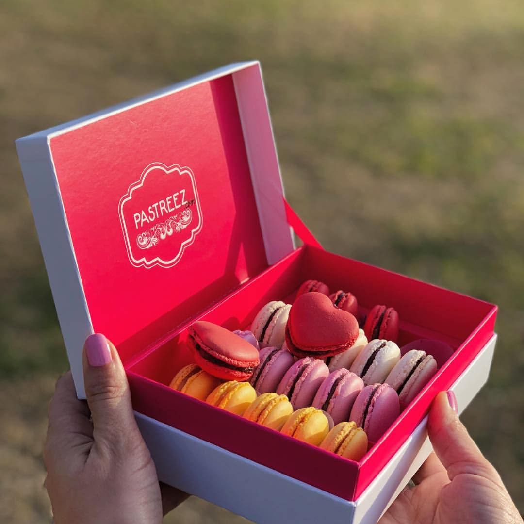 Subscription Box Macaroons Gluten Free Valentines French Cookies