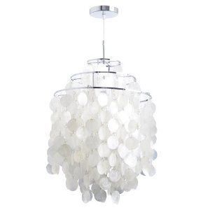 White shell pendant chandelier closets pinterest pendant white shell pendant chandelier aloadofball Images