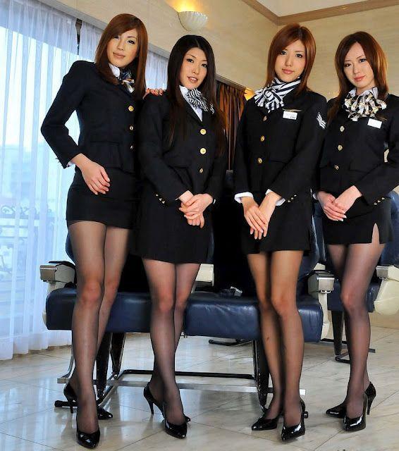 Lesbian air stewardesses