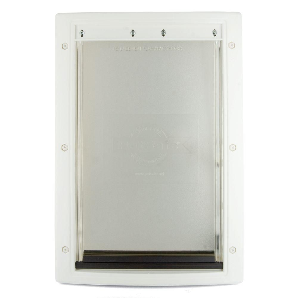 Petsafe 13 5 8 In X 23 In X Large White Plastic Pet Door Hpa11 10969 Doors Pet Door Pets