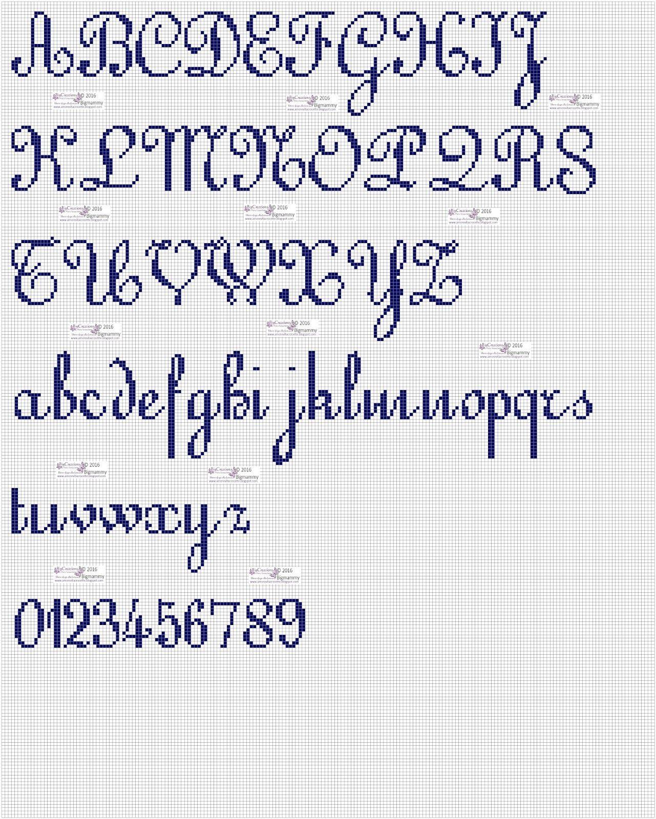 Amorevitacrocette punto croce alfabeti in corsivo for Ricamo punto croce lettere
