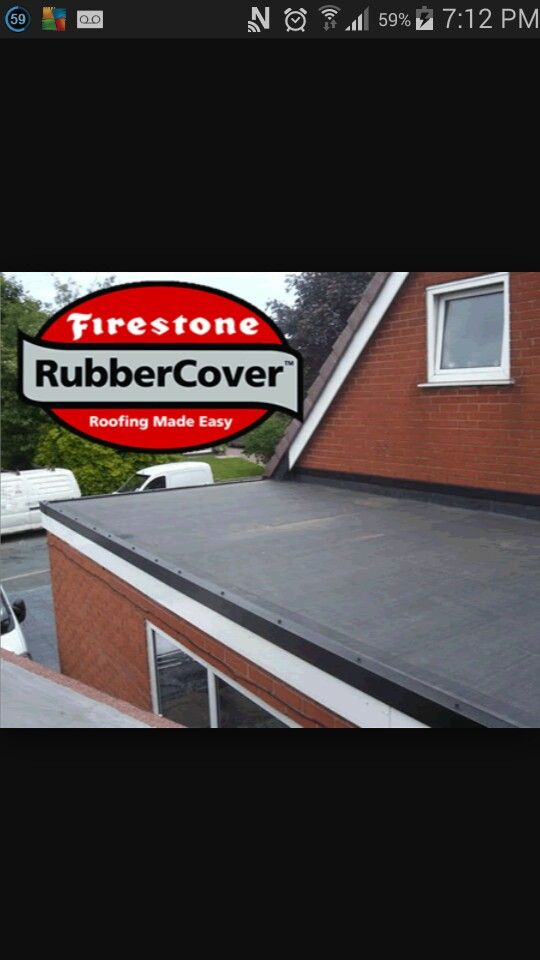 ENSOR Supplied A Residential Rubber Cover, EPDM Firestone, Rubber Roofing  System To A Local Builder So He Can Make Watertight His Neighbours Garage  Roof.