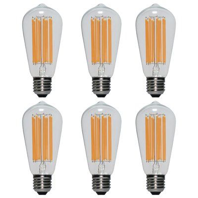 Eurus Home 60 Watt Equivalent Led Dimmable Light Bulb Warm White 2700k E26 Medium Standard Base Dimmable Light Bulbs Light Bulb Vintage Light Bulbs