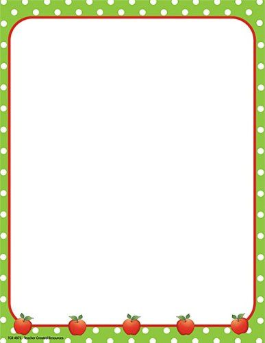 Classroom Border Design ~ Teacher created resources apples and dots computer paper