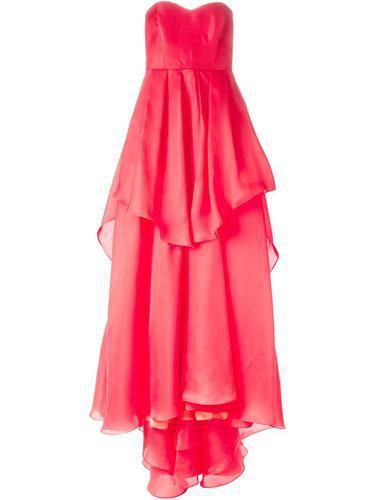BADGLEY MISCHKA strapless layered ruffle gown #blacktiedress #badgleymischka #blacktie #women #designer #covetme