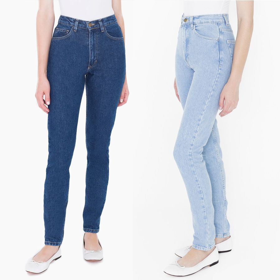 american apparel women Classic Dark Wash High Waist Jeans pants Aa ...