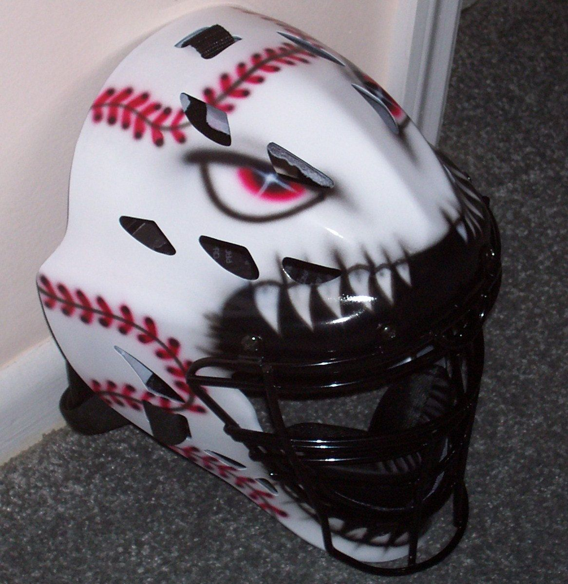 Baseball catchers gear baseball catchers gear set - Catchers Helmet Airbrush Baseball