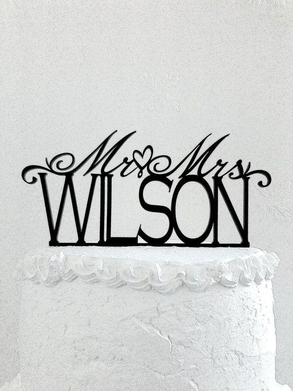 Mr And Mrs Wilson Wedding Cake Topper CakeTopperDesign Etsy