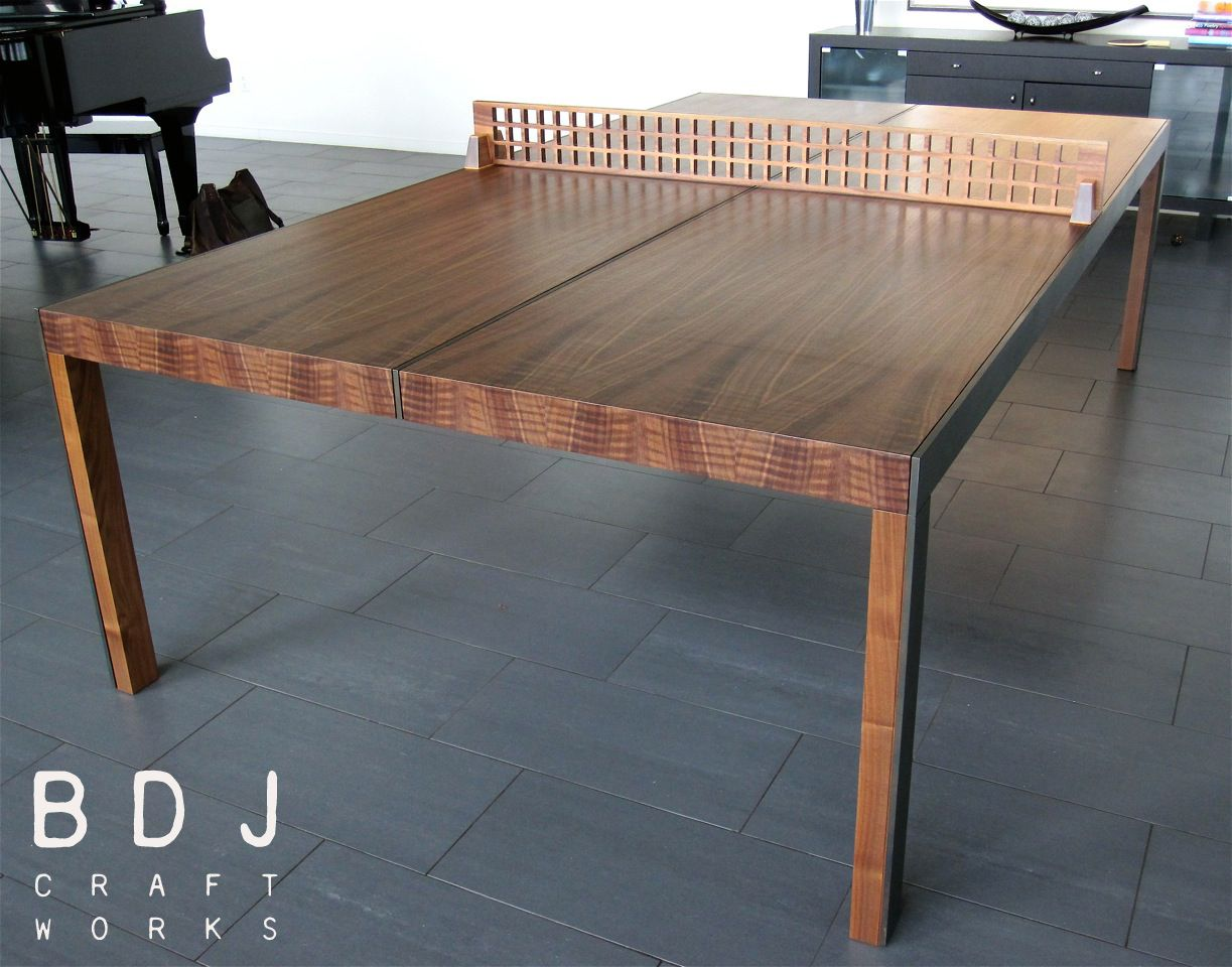 Original One Of A Kind Ping Pong Table   Handmade In Austin, TX
